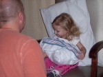 Ellerie holding Carter for the first time